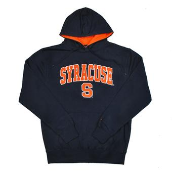 Syracuse Orange Colosseum Navy Zone Pullover Fleece Hoodie (Adult L)