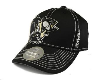 Pittsburgh Penguins Reebok Black Draft Cap Fitted Hat
