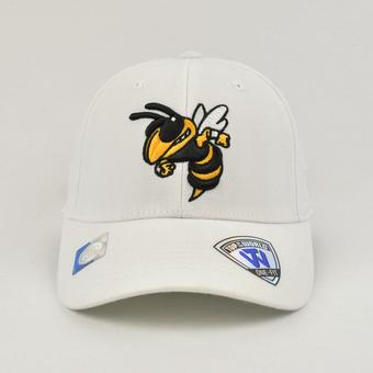 Georgia Tech Yellow Jackets Top Of The World Premium Collection White One Fit Flex Hat (Adult One Size)
