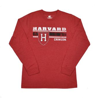 Harvard Crimson Colosseum Red Warrior Long Sleeve Shirt (Adult XL)