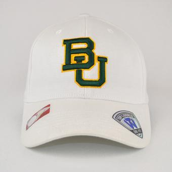 Baylor Bears Top Of The World Premium Collection White One Fit Flex Hat (Adult One Size)