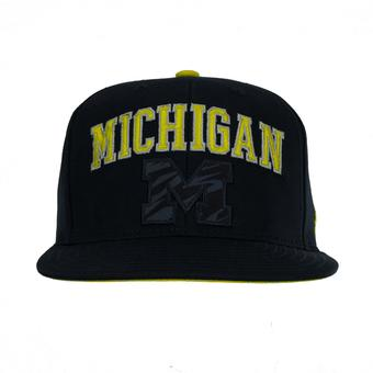Michigan Wolverines Adidas Navy Team Colors Snapback Hat (Adult One Size)