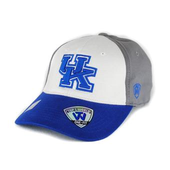 Kentucky Wildcats Top Of The World Tee Jock Three Tone Grey One Fit Flex Hat (Adult One Size)