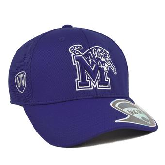 Memphis Tigers Top Of The World Resurge Blue One Fit Flex Hat (Adult One Size)