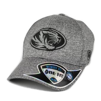 Missouri Tigers Top Of The World Steam Heather Grey One Fit Flex Hat (Adult One Size)