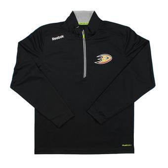 Anaheim Ducks Reebok Black Baselayer Center Ice Performance Quarter Zip Pullover (Adult L)