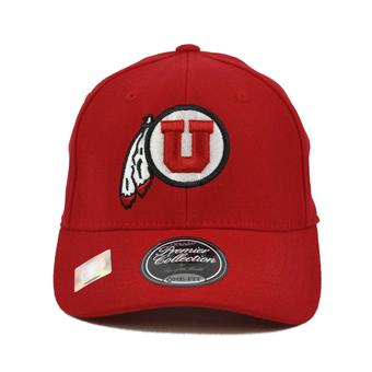 Utah Utes Top Of The World Premium Collection Red One Fit Flex Hat (Adult One Size)