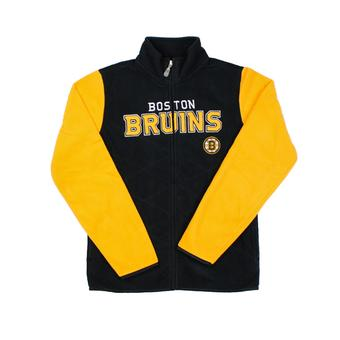 Boston Bruins Reebok Black Full Zip Microfleece Jacket (Womens L)