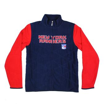New York Rangers Reebok Navy Full Zip Microfleece Jacket (Womens L)