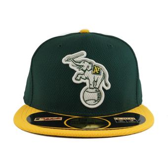 Oakland Athletics New Era Diamond Era 59Fifty Fitted Green & Yellow Hat