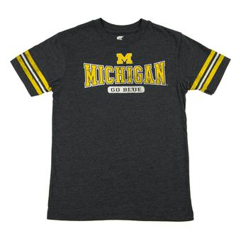 Michigan Wolverines Colosseum Navy Youth Thunderbird Tee Shirt (Youth M)