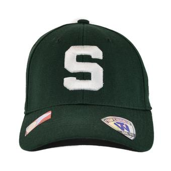 Michigan State Spartans Top Of The World Premium Collection Green One Fit Flex Hat (Adult One Size)