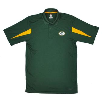 Green Bay Packers Majestic Green Field Classic Cool Base Performance Polo (Adult S)