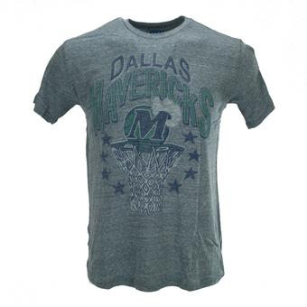 Dallas Mavericks Junk Food Heather Blue Tri-Blend Tee (Adult S)