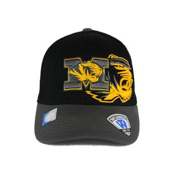 Missouri Tigers Top Of The World Idol Black One Fit Flex Hat (Adult One Size)