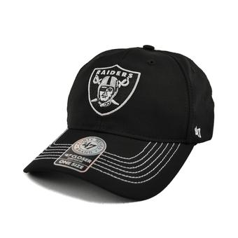 Oakland Raiders '47 Brand Black Game Time 47 Closer Stretch Fit Hat (Adult One Size)