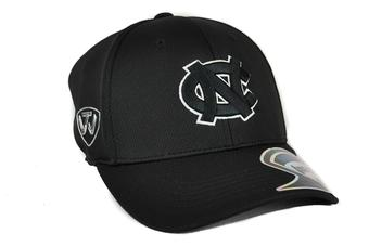 North Carolina Tar Heels Top Of The World Ultrasonic Black One Fit Flex Hat (Adult One Size)
