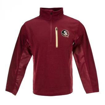 Florida State Seminoles Colosseum Maroon Surge 1/4 Zip Pullover Performance Fleece (Adult L)