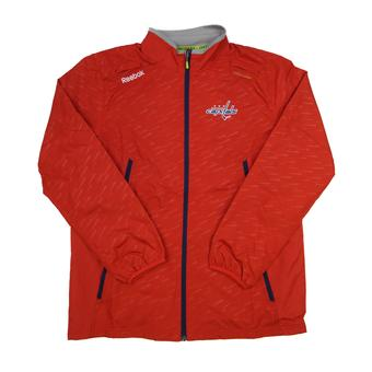 Washington Capitals Reebok Red Center Ice Performance Rink Jacket (Adult L)