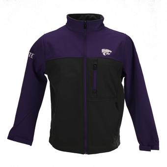 Kansas State Wildcats Colosseum Purple & Grey Yukon II Full Zip Softshell Jacket (Adult XL)
