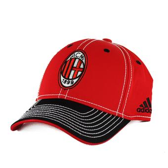 A.C. Milan Adidas Soccer Red Pro Shape Flex Hat (Adult S/M)