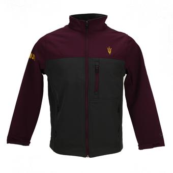 Arizona State Sun Devils Colosseum Maroon & Grey Yukon II Full Zip Softshell Jacket (Adult L)
