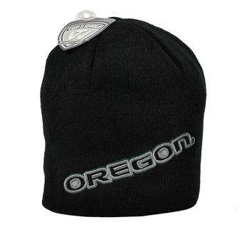 Oregon Ducks Top Of The World Black Frigid Knit Hat (Adult One Size)