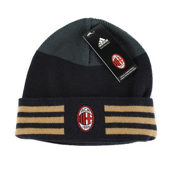 A.C. Milan Adidas Soccer Licensed Club Black Knit Hat (Adult One Size)