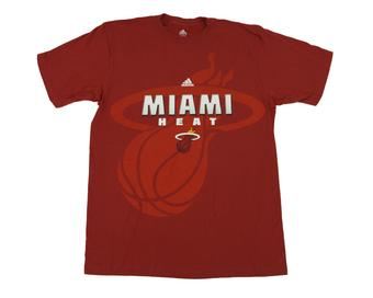 Miami Heat Adidas Maroon The Go To Tee Shirt (Adult XXL)