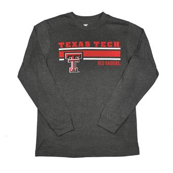 Texas Tech Red Raiders Colosseum Grey Warrior Long Sleeve Tee Shirt (Adult XL)