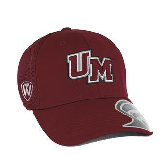 Massachusetts (UMass) Minutemen Top Of The World Resurge Maroon One Fit Flex Hat (Adult One Size)