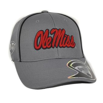Ole Miss Rebels Top Of The World Linemen Charcoal Grey One Fit Flex Hat (Adult One Size)