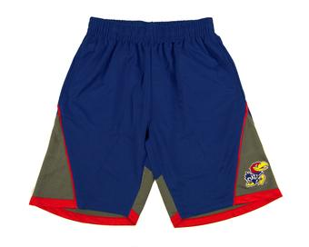 Kansas Jayhawks Colosseum Royal Blue Switchback Shorts (Adult L)