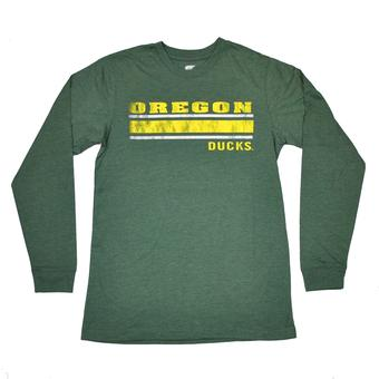 Oregon Ducks Colosseum Green Warrior Long Sleeve Tee Shirt (Adult L)