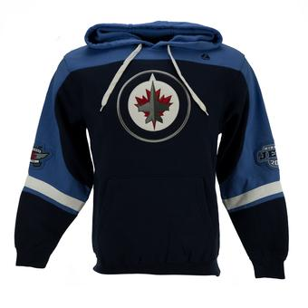 Winnipeg Jets Majestic Navy Ice Classic Fleece Hoodie
