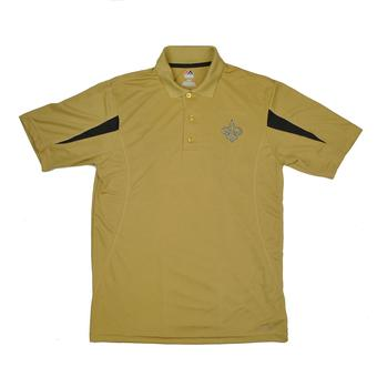 New Orleans Saints Majestic Gold Field Classic Cool Base Performance Polo (Adult L)