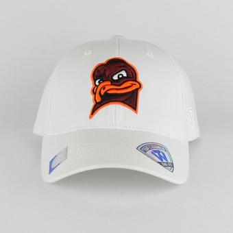 Virginia Tech Hokies Top Of The World Premium Collection White One Fit Flex Hat (Adult One Size)