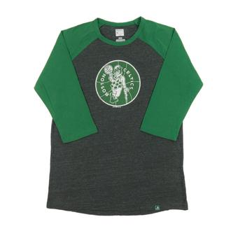 Boston Celtics Majestic Gray Don't Judge 3/4 Sleeve Dual Blend Tee Shirt (Adult M)