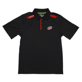 Carolina Hurricanes Reebok Black Center Ice Performance Polo (Adult XL)