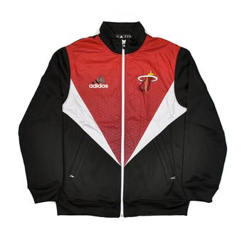 Miami Heat Adidas Black & Red Resonate Kinetic Performance Jacket (Adult L)