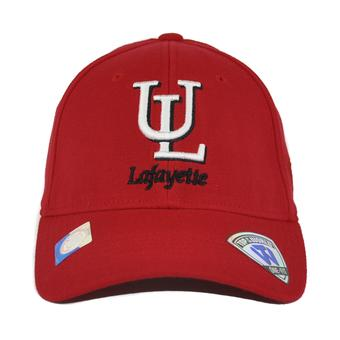 Louisiana Lafayette Ragin' Cajuns Top Of The World Premium Collection Red One Fit Flex Hat (Adult One Size)