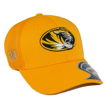 Missouri Tigers Top Of The World Resurge Yellow One Fit Flex Hat (Adult One Size)