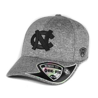 North Carolina Tar Heels Top Of The World Steam Heather Grey One Fit Flex Fit Hat (Adult One Size)