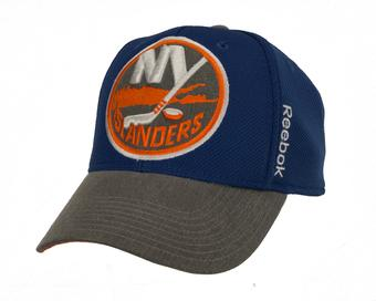 New York Islanders Reebok Blue Playoffs Cap Flex Fitted Hat (Adult L/XL)