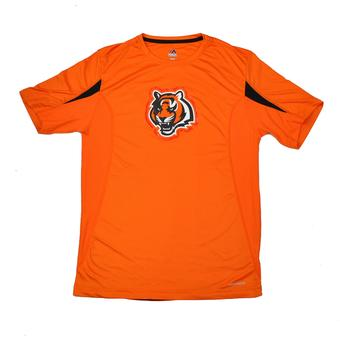 Cincinnati Bengals Majestic Orange Fanfare VII Performance Synthetic Tee Shirt (Adult M)