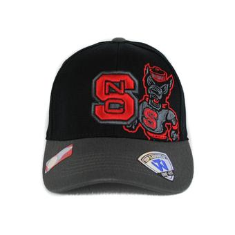North Carolina State Wolfpack Top Of The World Idol Black One Fit Flex Hat (Adult One Size)