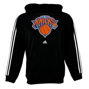New York Knicks Adidas Black 3 Stripe Fleece Hoodie (Adult M)