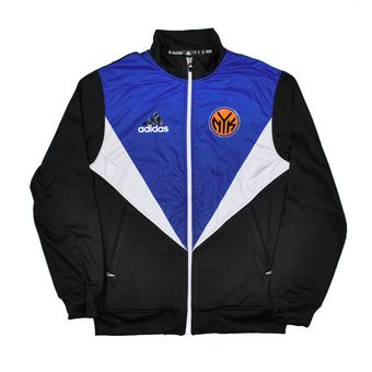 New York Knicks Adidas Black & Blue Resonate Kinetic Performance Jacket (Adult XL)