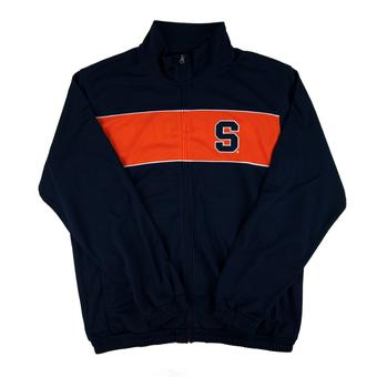 Syracuse Orange GIII Navy Full Zip Performance Track Jacket (Adult M)