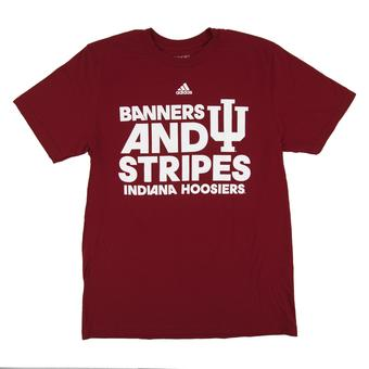 Indiana Hoosiers Adidas Red The Go To Short Sleeve Tee Shirt (Adult L)